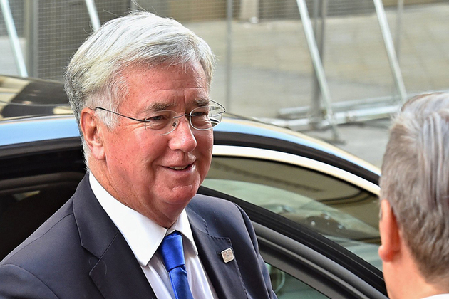 Defence Secretary Michael Fallon arrives at informal EU Defence Ministerial in Slovakia. Picture: British Embassy Slovakia.