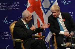 FS Johnson and President Peres