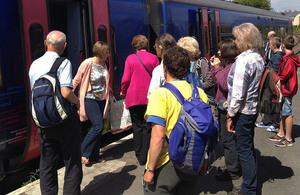 Melksham railway station.