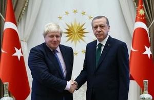 Dışişleri Bakanı Boris Johnson ve Cumhurbaşkanı Recep Tayyip Erdoğan
