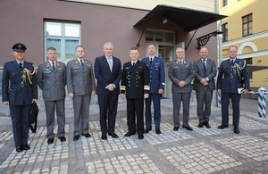 Defence Attaché Mark Taylor with colleagues