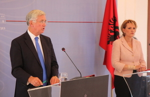 UK powers up Albania defence partnership