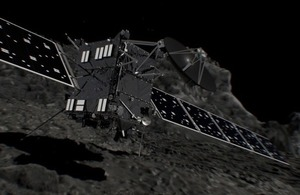 Artist's impression of Rosetta before impact
