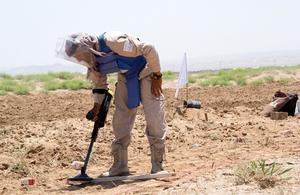 De-mining in Afghanistan. Picture: DFID