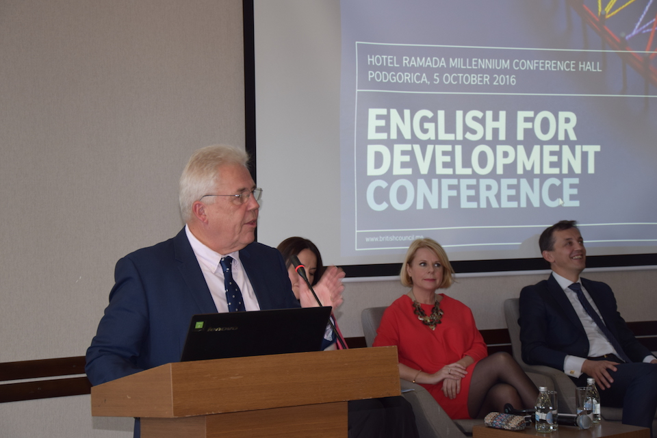 "Ambassador Whitting at ""English for Development"" conference"
