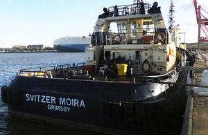 Tug Svitzer Moira alongside