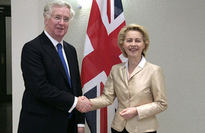 Read 'UK and Germany step up Defence cooperation on day of unity'