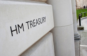 HM Treasury building plaque
