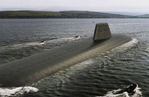 Impression of how the UK's new nuclear submarines may look. Crown copyright.