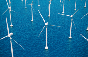 image of sea wind farm