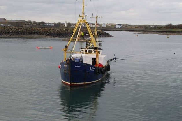 Fishing vessel Karen returning to port after the collision (image courtesy of Ross Boats Ltd