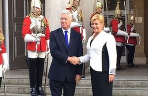 Defence Secretary confirms the UK's commitment to European security during visit from Croatian President.