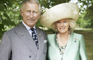 Prince of Wales and Duchess of Cornwall. Photo credit: Mario Testino