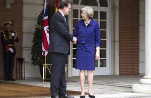 Prime Minister Theresa May with the Spanish Prime Minister Rajoy in Madrid