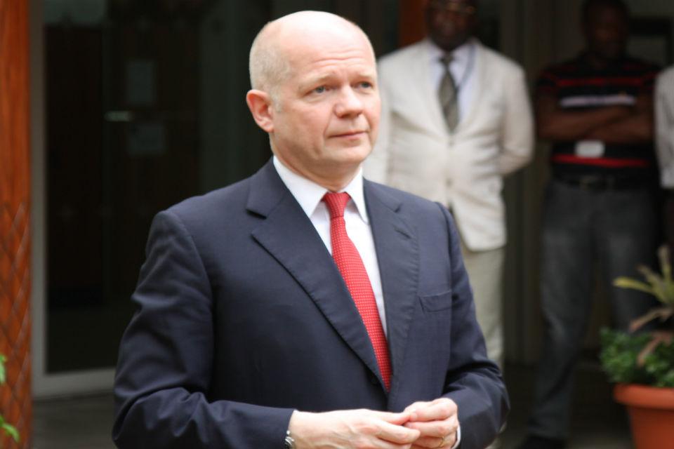William Hague in Kinshasa