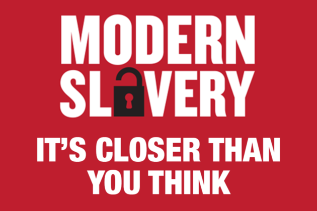 Modern slavery logo.