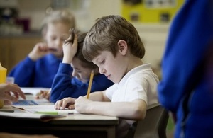Pupils concentrating