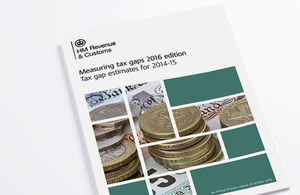 Front cover of 'Measuring tax gaps - 2016 edition'