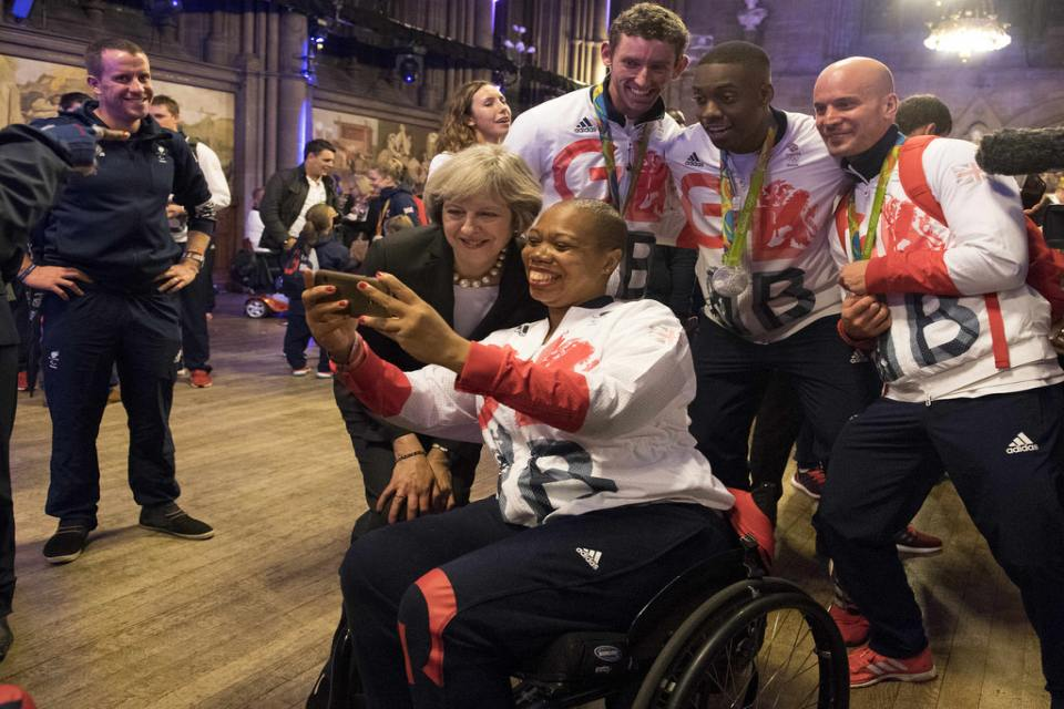PM with Paralympics GB athletes