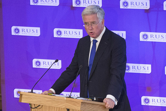 Defence Secretary Michael Fallon spoke at the second RUSI Cyber Symposium. Crown Copyright.