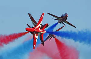 The Red Arrows take to the skies for their first ever display in China