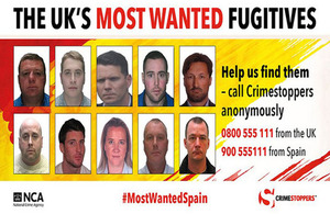 The hunt is on for more of Britain's most wanted fugitives'