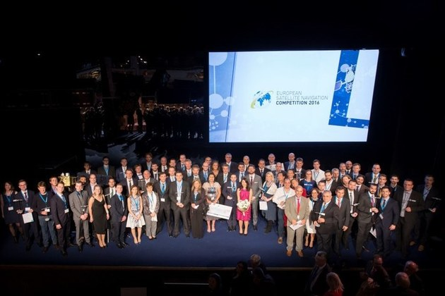 All of the regional winners from the European Satellite Navigation Competition 2016.