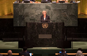 Theresa May at UNGA
