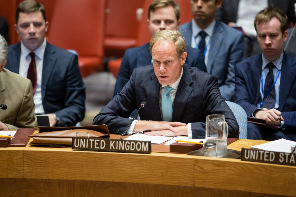 Ambassador Matthew Rycroft in UN Security Council