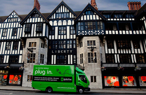 £4 million boost to help businesses switch vans and trucks to electric.
