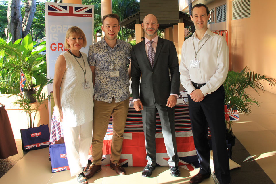 Members of the UK delegation at the Pacific Climate Change Roundtable in Nadi.