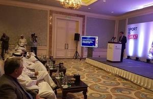 Greg Hands MP opens Sport is GREAT event in Qatar