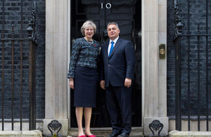 PM Theresa May meeting Hungarian Prime Minister Viktor Orbán