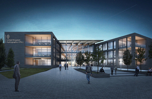 Planned UKHO Office at night