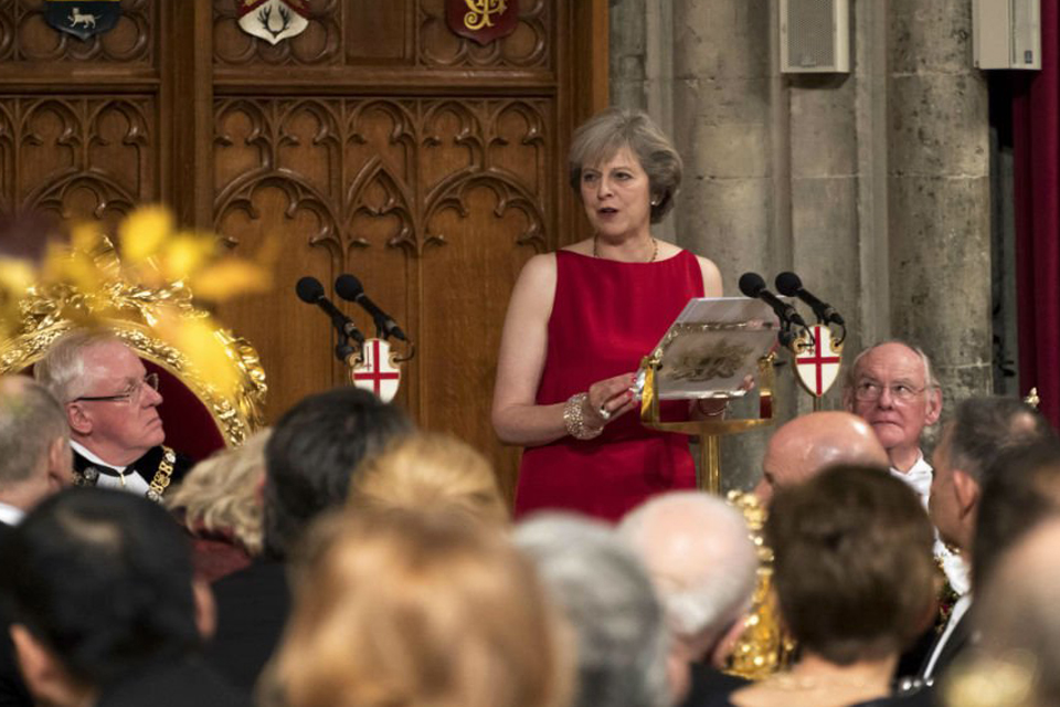 PM Theresa May laid out her plan for how Britain can lead in the transformed modern world during her speech to the Lord Mayor's Banquet