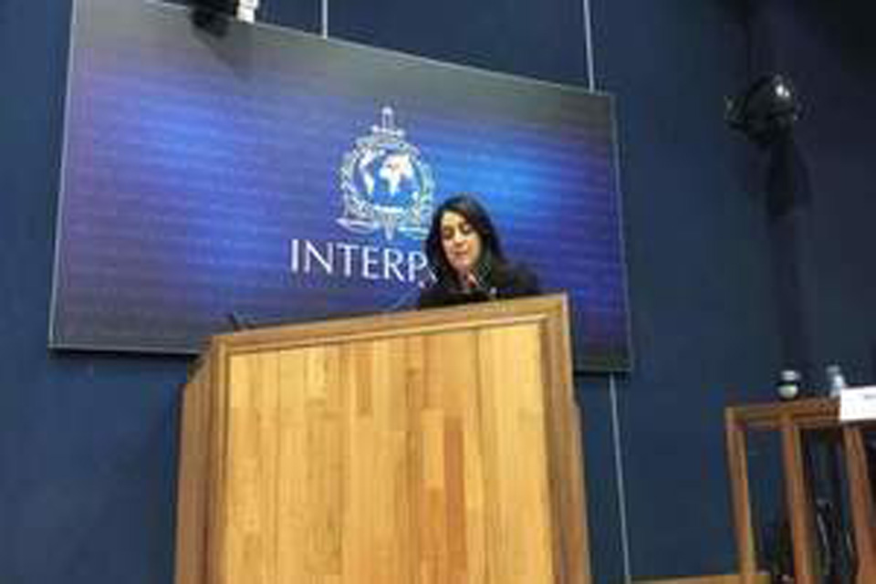 Read the 'Baroness Shields' speech at INTERPOL Specialists Group meeting' article