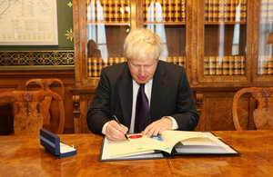 Foreign Secretary, Boris Johnson ratifying the Paris Agreement