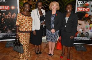 HE Alison Blackburne with Uganda women parliamentarians