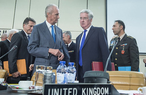Defence Secretary Michael Fallon at NATO's meeting of Defence Ministers, 26 October