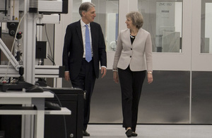 Prime Minister and Chancellor of the Exchequer at Renishaw in Gloucestershire
