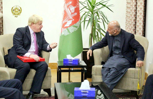 Boris Johnson and Ashraf Ghani