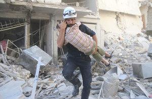 White Helmet volunteer in Syria