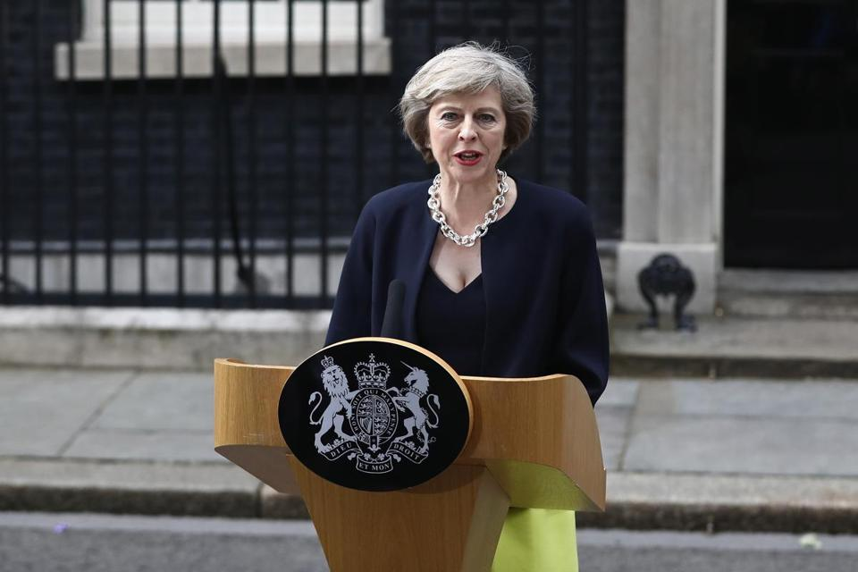 Portrait of PM Theresa May