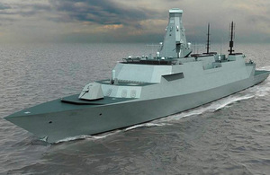 Computer Generated Image of the Type 26 Global Combat Ship