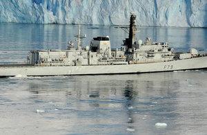 HMS Portland visits Chile for Exponaval 2016.