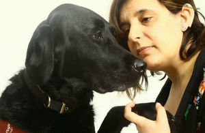 Lisa Baldock and Hearing Dog, Inca.