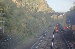 FFCCTV image of incident (courtesy of South West Trains)