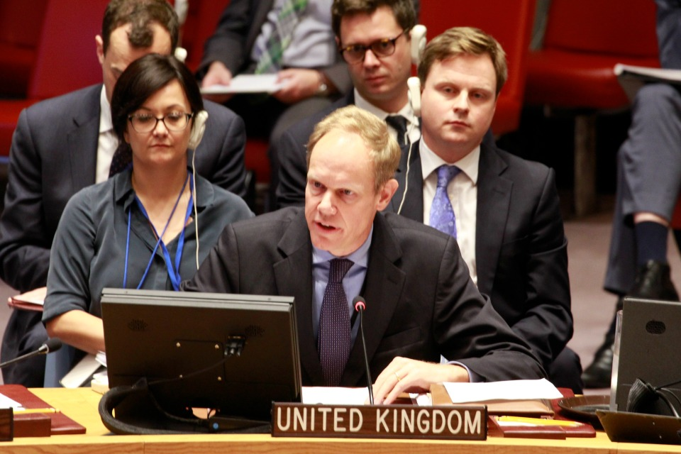 Matthew Rycroft in UNSC