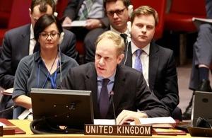 Matthew Rycroft in UNSC