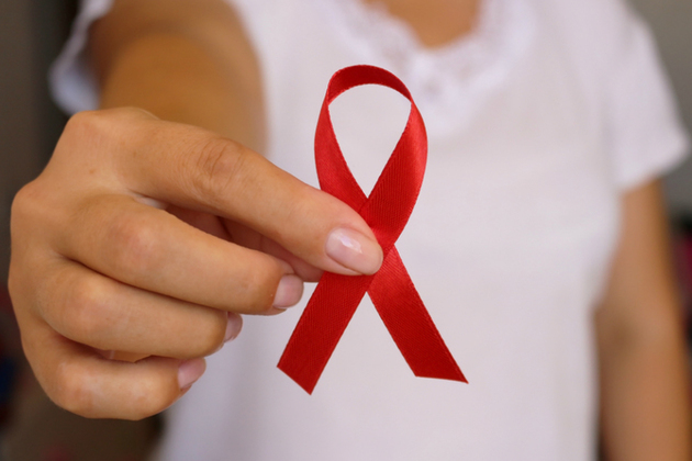 Red AIDS awareness ribbon